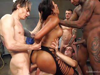 секс большим членом двойной проникновение